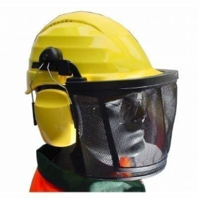 Casque forestier PE -Coiffe textile 4 points