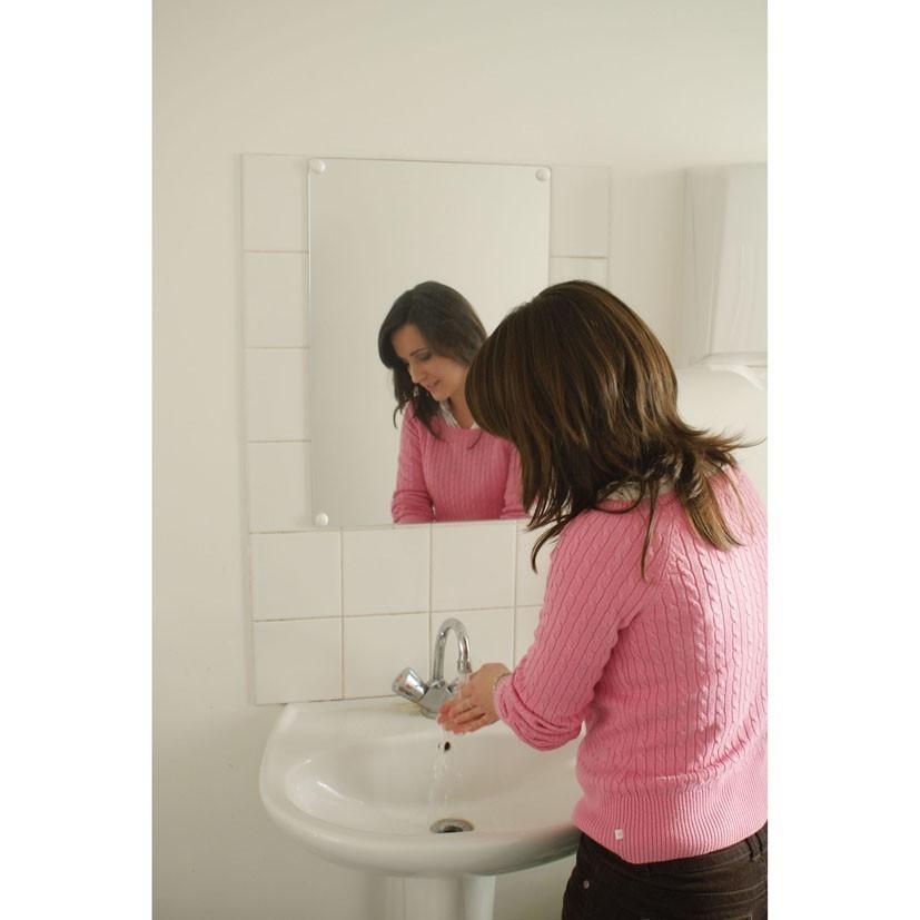 Miroir plat anti bris de verre for Dessin miroir bris