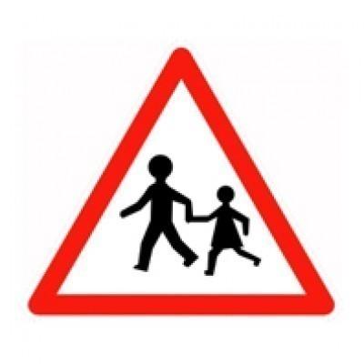 Panneau a13a poteau alu passage enfants - Panneau de signalisation personnalise ...